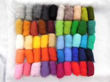 150 gr / 5.3 ounces Sheep Wool Fiber for Needle Felting, 50 colors