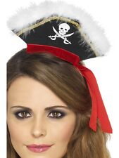 Fancy Dress Costume Fever Pirate Lady Wench Fascinator Hat on Headband - 22524