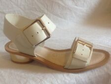 Clarks Ladies Sandcastle Art Smart Cotton Leather Sandals Size 4D