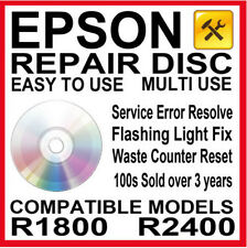 Epson Stylus Photo R1800 R2400 Printer - Fault Reset Disc: Service Repair Fix