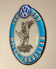 VW 100K miles badge - Beetle Camper Bay Splitty Karmann Ghia Type 3 Convertible