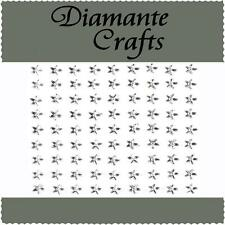 81 x 6mm Clear Diamante Stars Self Adhesive Rhinestone Body Art Vajazzle Gems