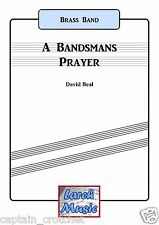 A BANDSMANS PRAYER - Brass Band Music Score and Parts *NEW*
