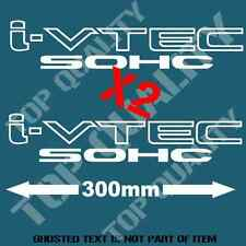 iVTEC SOHC DECAL STICKER X 2 FOR HONDA VTEC INTEGRA DRIFT JDM DECALS STICKERS