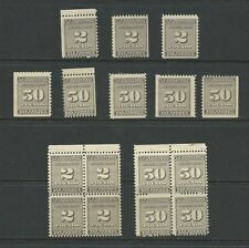 US REVENUE POTATO STAMP SCOTT RI14 & RI18 singles plus blocks . ALL OGNH