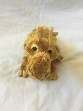 "NWT DOUGLAS Cuddle Toy 11"" Sparkly Gold Topaz Stuffed Animal Plush DRAGON NEW"