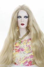 Honey Ash Blonde Blonde Long Skin Top Straight Costume Wigs