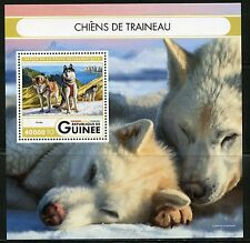 GUINEA 2016 SLED DOGS  SOUVENIR SHEET MINT NH
