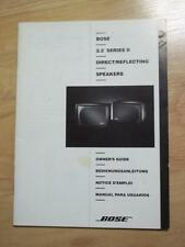 Owner/User Manual for the Bose 2.2 Series 2 Speakers