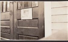 1925 ST PAUL'S COLLEGE CONCORDIA NOTICE MEASLES HERE MAYOR KEEP AWAY SIGN PHOTO