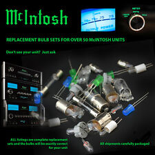 McIntosh Replacement Bulbs - complete set for MC2105 MC2505 amp - 8 bulb set