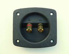 Speaker terminal wire or 4mm connector block for loudspeaker cabinet 62mm cutout
