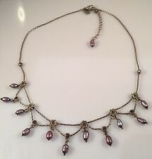 1928 Brand Gray Freshwater Pearl Silver Tone Necklace