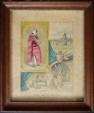 Gravure habillée 19e siècle Jehan de Joinville