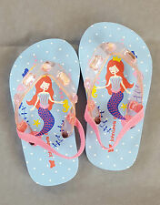 John Lewis Size 6 Mermaid flipflops. Jewel top and elastic back.