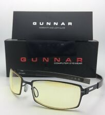 New GUNNAR Computer Glasses PPK 57-20 130 Dark Steel Frame w/Amber Yellow Lenses