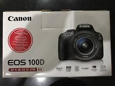NEW Canon EOS 100D 18.0MP with 18-55mm IS STM Lens Digital SLR Camera Kit Black