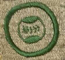 1928-1938 Girl Scout Grey Green Badge SQUARE - ATHLETE