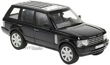 WELLY 1:24 2003 LAND ROVER RANGE ROVER DIE-CAST BLACK 22415