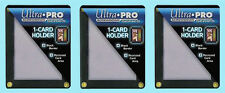 3 ULTRA PRO BLACK FRAME 1 CARD SCREWDOWN HOLDER Recessed 4 Screw Display Border