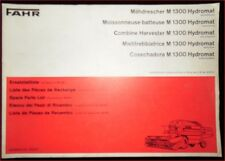 Fahr Mähdrescher M 1300 Hydromat Ersatzteilliste