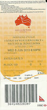 British & irish lions v western force 5 jun 2013 rugby ticket