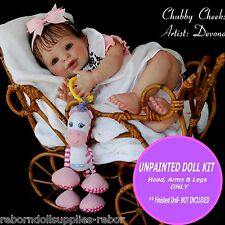 "REBORN KIT ~ Soft Vinyl doll kit to make your own baby~ Candy doll kit 20"" cute"