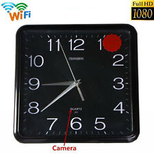 WIFI 1080P HD Spy Hidden Wall Clock IP Camera DVR Motion Detection Surveillance
