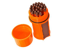 UCO Stormproof Windproof Waterproof Matches Kit w/ Orange Case 25 Matches