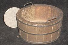 Dollhouse Miniature Western Wooden Tub 1:12 Weathered #WO1958 Washing Laundry