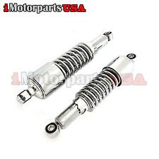"10"" REAR CHROME SHOCKS ABSORBERS FOR HONDA HARLEY VINTAGE MOTORCYCLE SCOOTER"