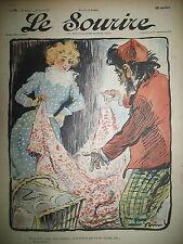 LE SOURIRE JOURNAL HUMORISTIQUE N° 76 DESSINS GRÜN CADEL HUARD BERTRAND 1901