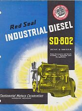 VINTAGE CATALOG #3025 - 1950s RED SEAL INDUSTRIAL DIESEL SD-802 ENGINE