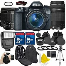 Canon EOS 70D DSLR Camera + 18-55mm IS STM Lens + 75-300 III Holiday Bundle