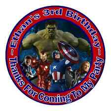 THE AVENGERS BIRTHDAY THANK YOU (THANKS) FOR COMING TO MY PARTY STICKERS FAVORS