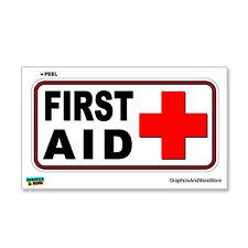 First Aid Kit - Business Store Sign - Window Wall Sticker