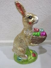 """Easter Faux Classic Chocolate Gold Bunny Rabbit with Egg Decoration Decor 8"""""""