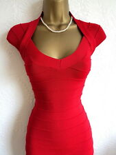 Jane Norman red bandage bodycon dress size 8