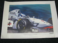 Litho F1 Art West McLaren MP4/12 1997 #9 Mika Hakkinen (FIN) Willem Lubach
