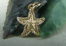 Cute Star Fish Pendent 14k Solid Gold  0.44 Inches, Pendant Animals Sea