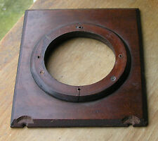 "wooden lensboard 4.5"" X  5.5""  63mm hole for tp blind shutter used"