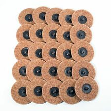 "25pc - 3"" Coarse Brown Roloc Quick Change Surface Conditioning Prep Sanding Disc"