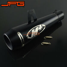 Black GP Exhaust Muffler Pipe Slip on Motorcycle Street Bike 38mm-51mm Universal