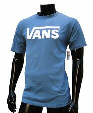 Vans Skateboard Co. Classic Logo Powder Blue/White Mens T shirt Size Large