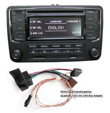 VW Autoradio RCN210 mit CAN Kabel BLUETOOTH CD USB AUX SD GOLF CADDY POLO CC EOS