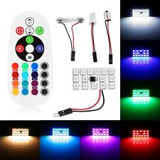 15SMD LED RGB Car Dome Light Atmosphere Lamp Interior Panel Reading Bulbs+Remote