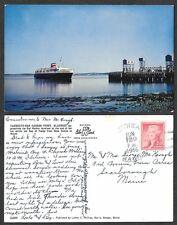 1956 Maine Ship Postcard - Bluenose Ferry