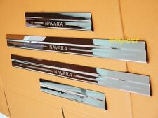 4 DOORS SCUFF PLATE STAINLESS STEEL FOR NEW NISSAN NAVARA NP300 2014 2015