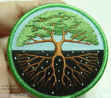 TREE OF LIFE IRON ON CLOTHING PATCH  - Wicca Pagan Witch Goth Druid WORLD TREE