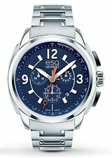 ESQ Movado 07301417 New Men's Blue Chronograph Excel Swiss Quartz Movement Watch